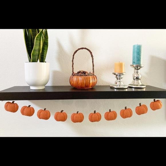 Pumpkin garland, felt, handmade